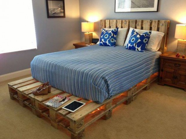 27 Ingeniously Beautiful DIY Pallet Bed Designs To ... on Bed Pallet Design  id=46159