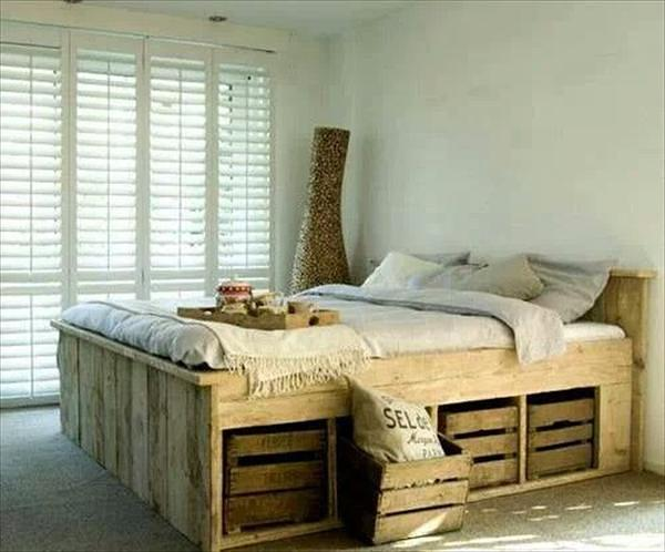 27 Ingeniously Beautiful DIY Pallet Bed Designs To ... on Pallet Bed Design  id=40711