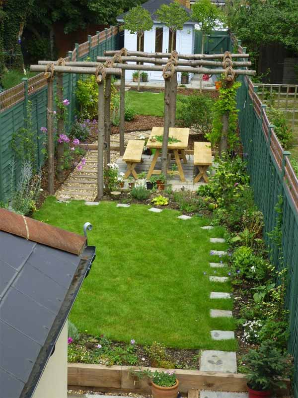 18 Beautifully Creative Landscaping Ideas For Narrow ... on Narrow Backyard Landscaping Ideas  id=75463