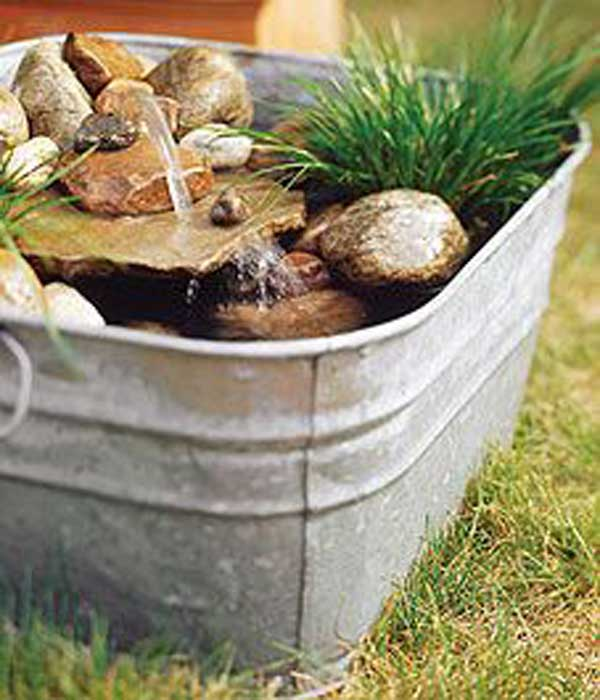 26 Wonderful Outdoor DIY Water Features Tutorials and ... on Small Backyard Water Features id=79176