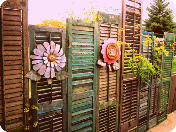 Make Creative Decorating Ideas Using Old Windows  Fun And Inspiring     old window shutters can make great decor and support for climbing plants with  make creative decorating ideas using old windows