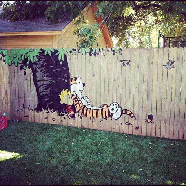 Get Creative With These 23 Fence Decorating Ideas and ... on Backyard Wooden Fence Decorating Ideas id=24948