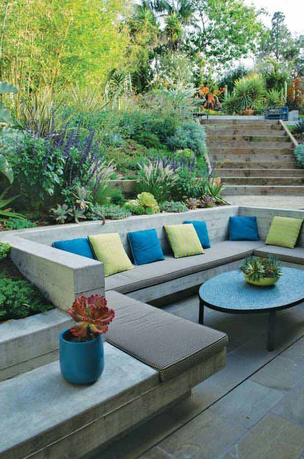 23 Simply Impressive Sunken Sitting Areas For a ... on Back Garden Seating Area Ideas id=88459