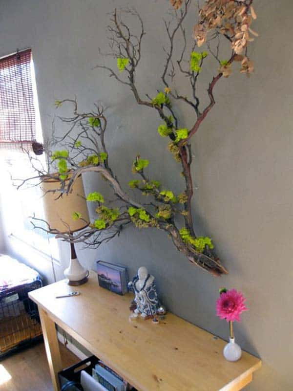 30 Ingenious Wall Tree Decorations To Beautify Your Home on Wall Sconces For Greenery Decoration id=52243