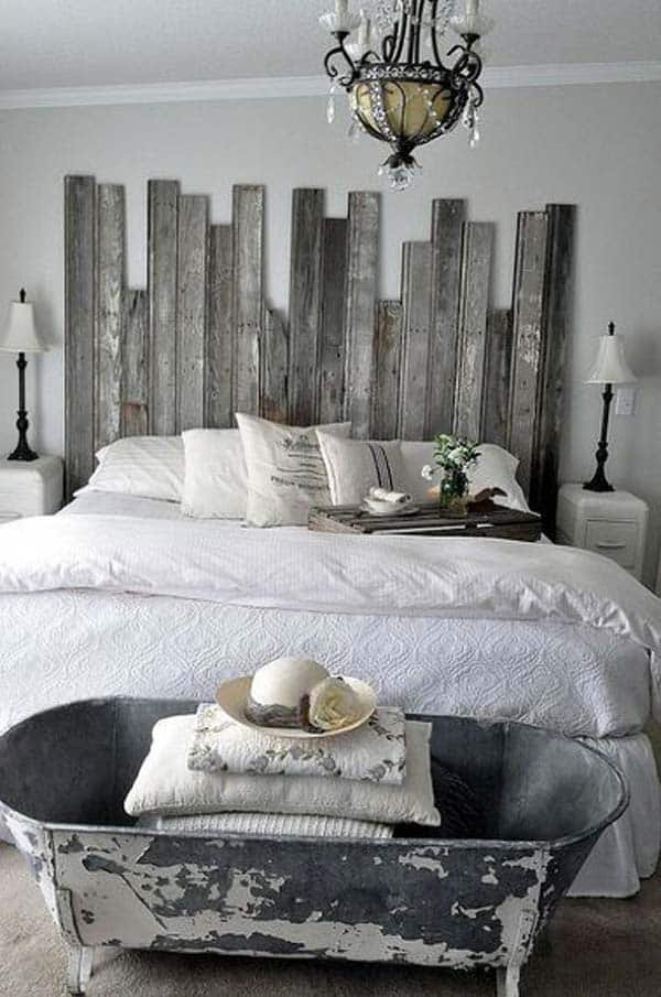 32 Super Cool Bedroom Decor Ideas for The Foot of the Bed ... on Bedroom Pallet Ideas  id=44086
