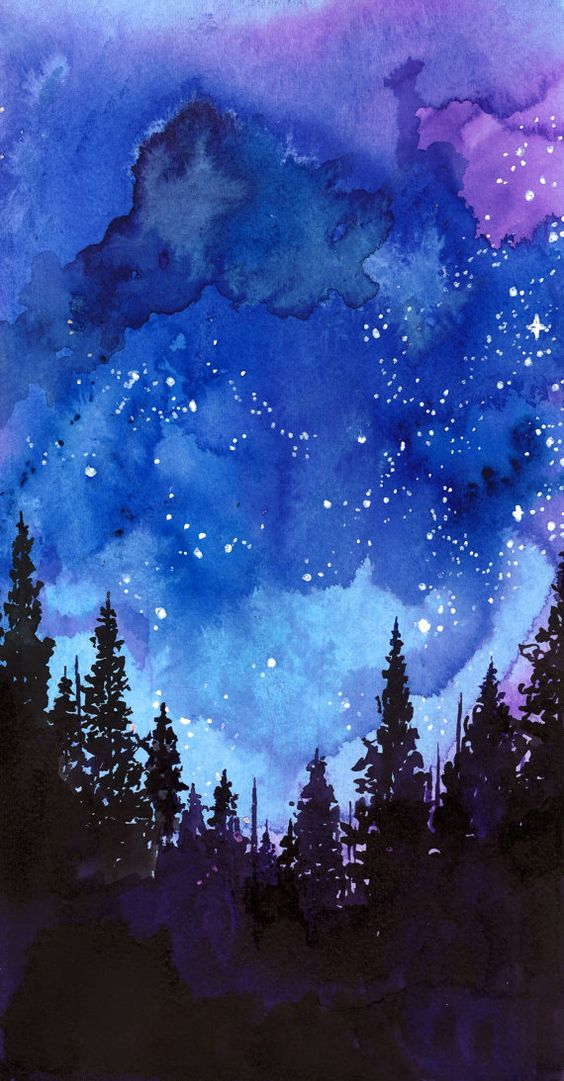 Blue and purple colored pencils, just like these artists:. 19 Incredibly Beautiful Watercolor Painting Ideas