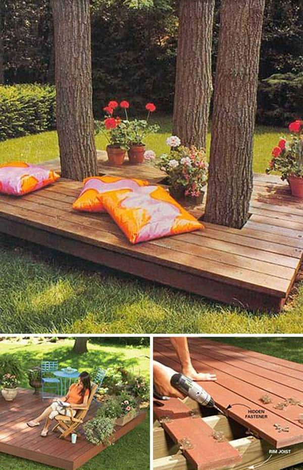 15 Stunning Low-budget Floating Deck Ideas For Your Home ... on Cheap Backyard Patio Ideas id=14829