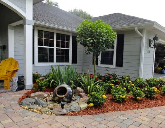 17 Small Front Yard Landscaping Ideas To Define Your Curb ... on Small Landscape Garden Design  id=98699
