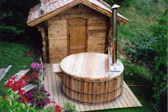 33 Inexpensive DIY Wood  Burning Hot Tub and Sauna Design Ideas This is one of such sauna  and hot tub designs that just might light the  spark needed for you come with a blazing idea to make your own  fantastically