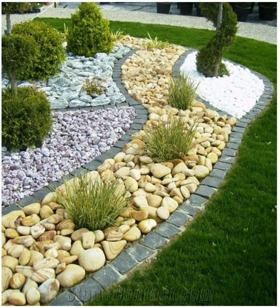 21 Incredible Pebble Landscapes That Will Enhance Your ... on Pebble Yard Ideas id=97692
