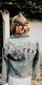 denim wifey unique wedding jacket