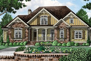 English Country Cottage House Plans   Storybook Home Plans Plan