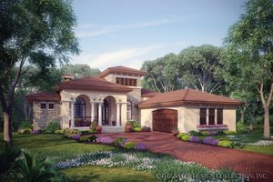 Mediterranean House Plans from HomePlans com Plan