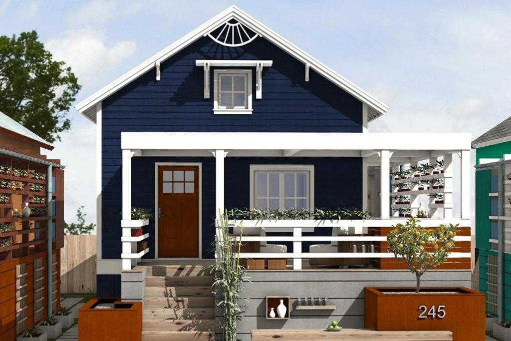 Cottage Style House Plan 2 Beds 2 Baths 891 Sq Ft Plan 497 23 Floorplans Com