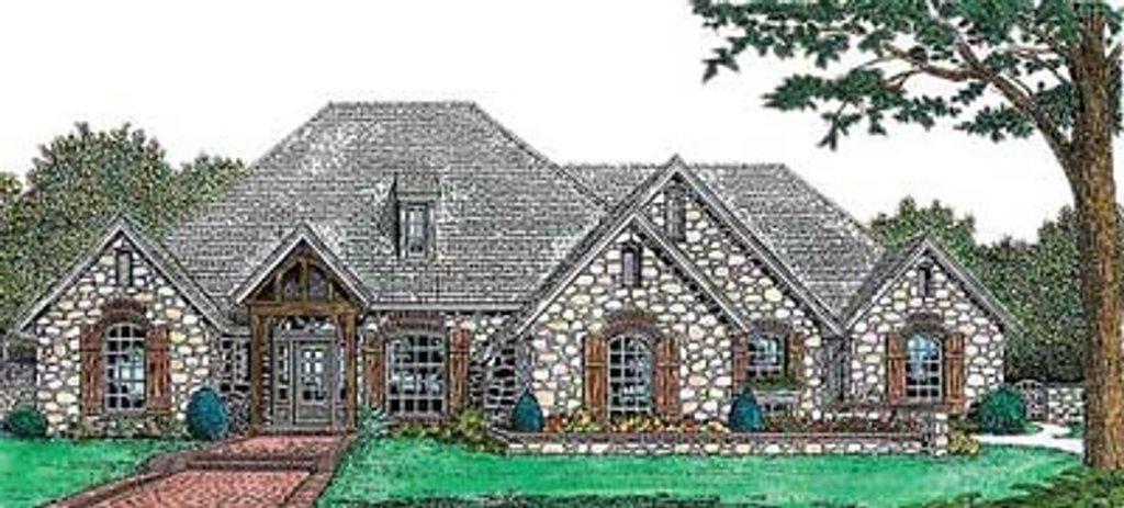 European Style House Plan 4 Beds 35 Baths 2630 SqFt Plan 310 557