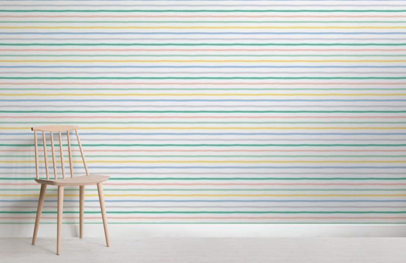 Carta da parati blocchi di righe orizzontali e verticali blu. Carta Da Parati A Righe Orizzontali Colorate Hovia It