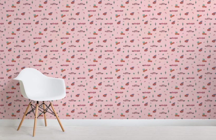 Whether it's a koi fish pond or the sandy beach landscape you're after, aj wallpaper can help you revamp your floors with beautiful 3d floor wallpaper. Pink American Car Pattern Wallpaper Hovia