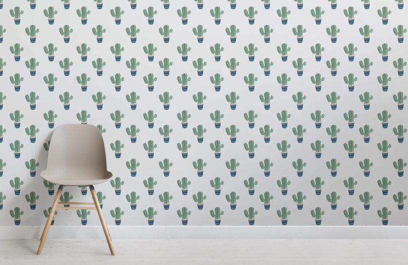 Rendi unica la tua stanza con collage moderno con la gioconda. Carta Da Parati Per Bambini Con Cactus Hovia It