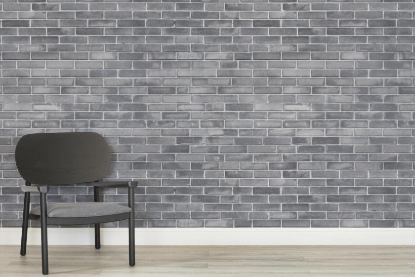 gray brick wallpaper mural