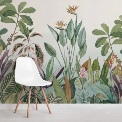 Veste i muri della zona pranzo con spirito e colore, senza rendere lo spazio troppo. Carta Da Parati Jungle Hovia It