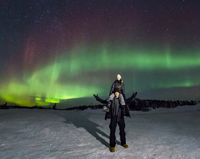 Northern Lights Marriage Proposal