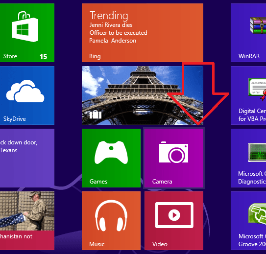 How to use Windows 8 Camera App step by step