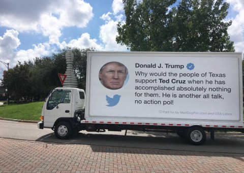 Image result for donald trump texas ted cruz bad truck