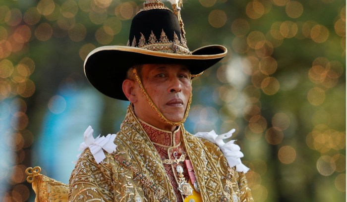 Thailand's newly crowned King Maha Vajiralongkorn during his coronation procession in Bangkok. Photo: Reuters