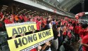 Hong Kong fans at the World Cup qualifier against Iran. Photo: Felix Wong