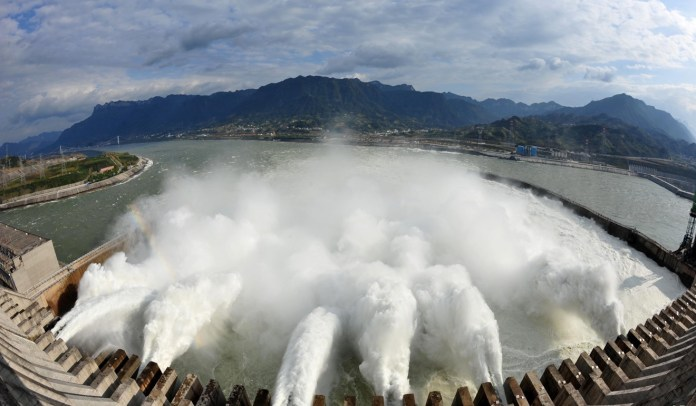 China's Three Gorges Dam (above) produces enough energy to power 80 million households each year. Photo: Shutterstock