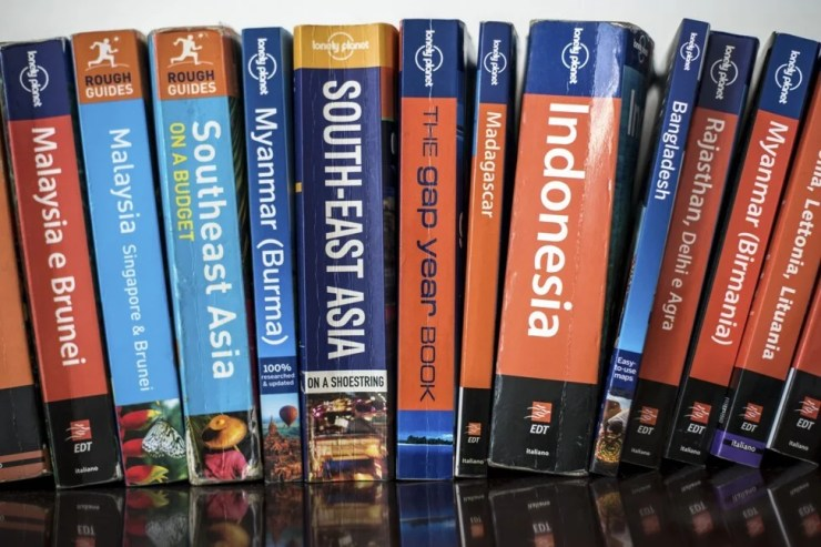 A selection of Lonely Planet travel guides. Photo: Shutterstock