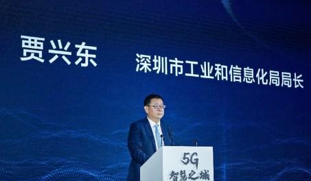 Shenzhen agora tem mais de 46.000 estações base 5G, de acordo com Jia Xingdong, diretor do Departamento de Indústria e Tecnologia da Informação da cidade. Foto: Xinhua