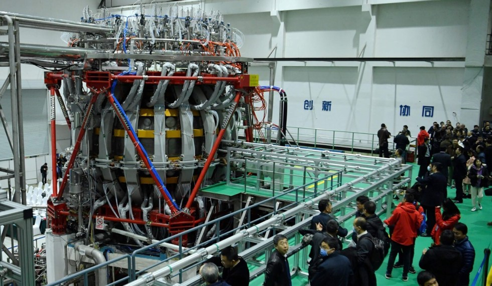 China's HL-2M nuclear fusion device is displayed at a research laboratory in Chengdu, Sichuan province on Friday. Photo: STR via AFP