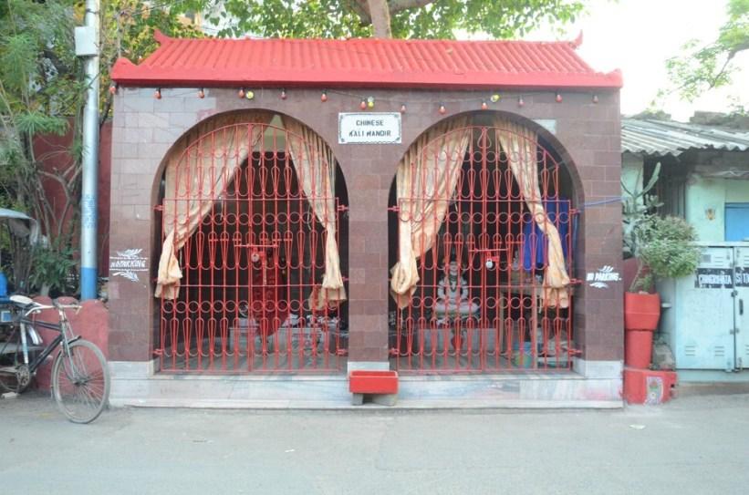 A Hindu temple in Kolkata built, run and worshipped in by Chinese community members. Photo: Rakesh Kumar