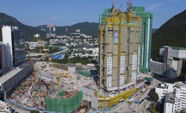 Kerry Properties' La Marina project near Wong Chuk Hang subway station on 9 September 2021. Photo: Martin Chan.