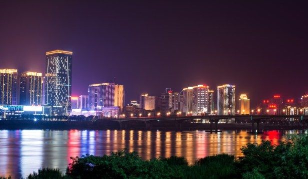 A view of Zhuzhou city, Hunan province, by night. Photo: Shutterstock
