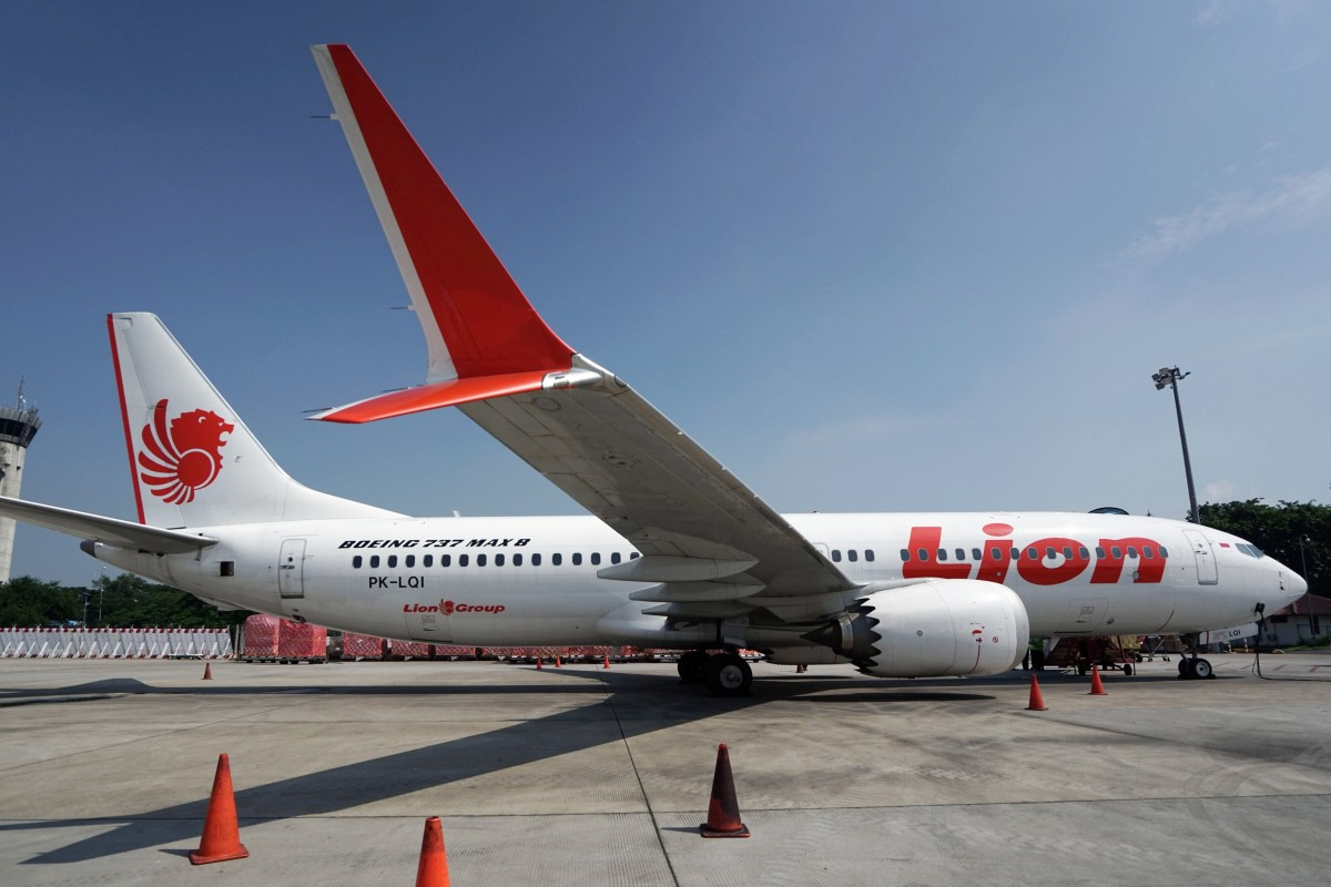 A Grounded Lion Air Boeing  Aircraft Sits On The Tarmac In Cenkareng