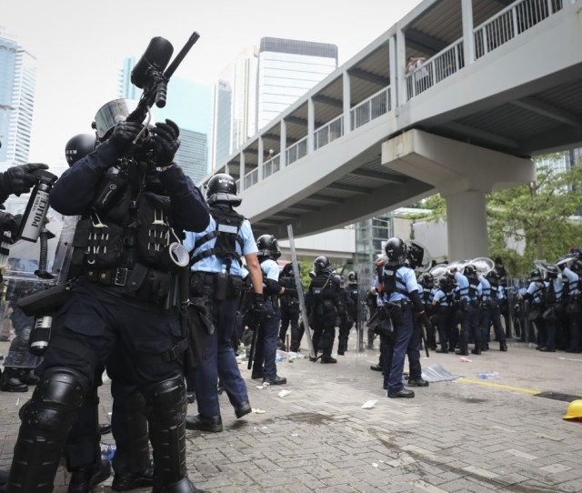 Police And Protesters Clash In Admiralty Hong Kong Photo James Wendlinger