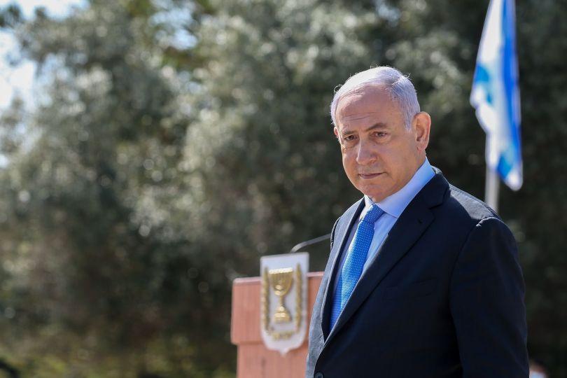 Le Premier ministre israélien Benyamin Netanyahou à Tel-Hai, dans le nord d'Israël, le 23 février 2021