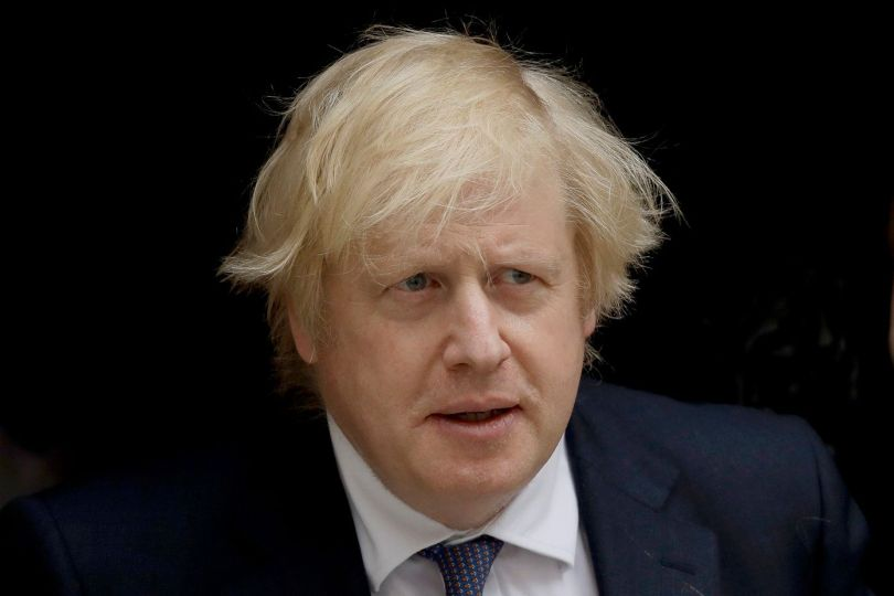 British Prime Minister Boris Johnson leaves 10 Downing Street in London, to attend the weekly Prime Minister's Questions at the Houses of Parliament, in London, on July 1, 2020.