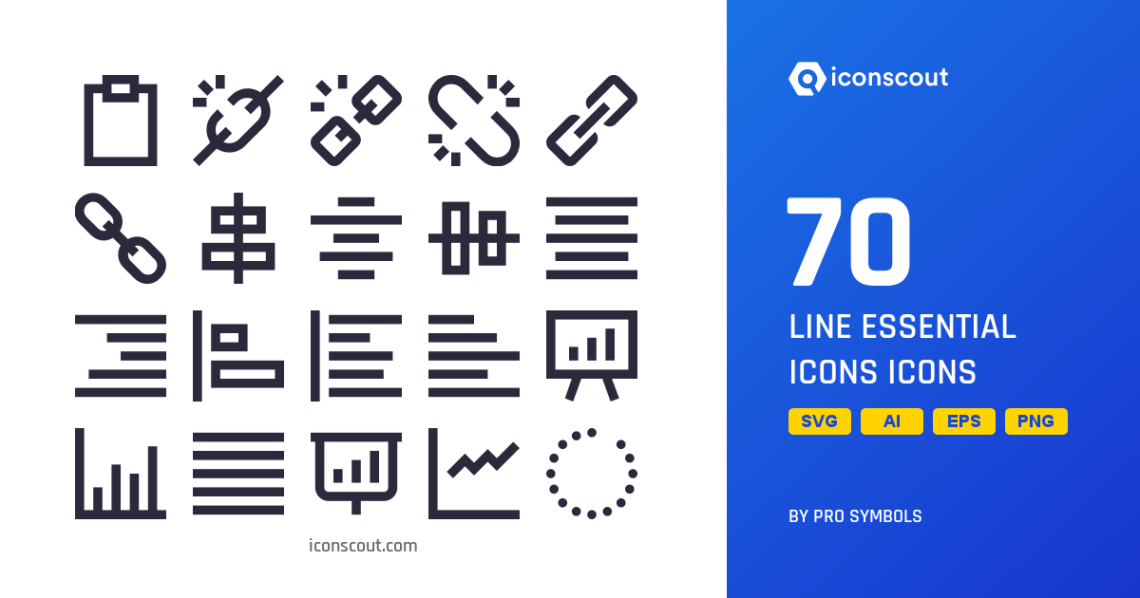Download Download Line Essential Icons Icon pack - Available in SVG ...