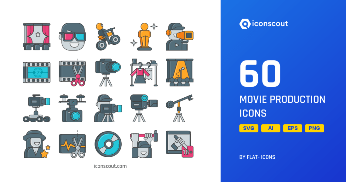 Download Download Movie Production Icon pack - Available in SVG ...