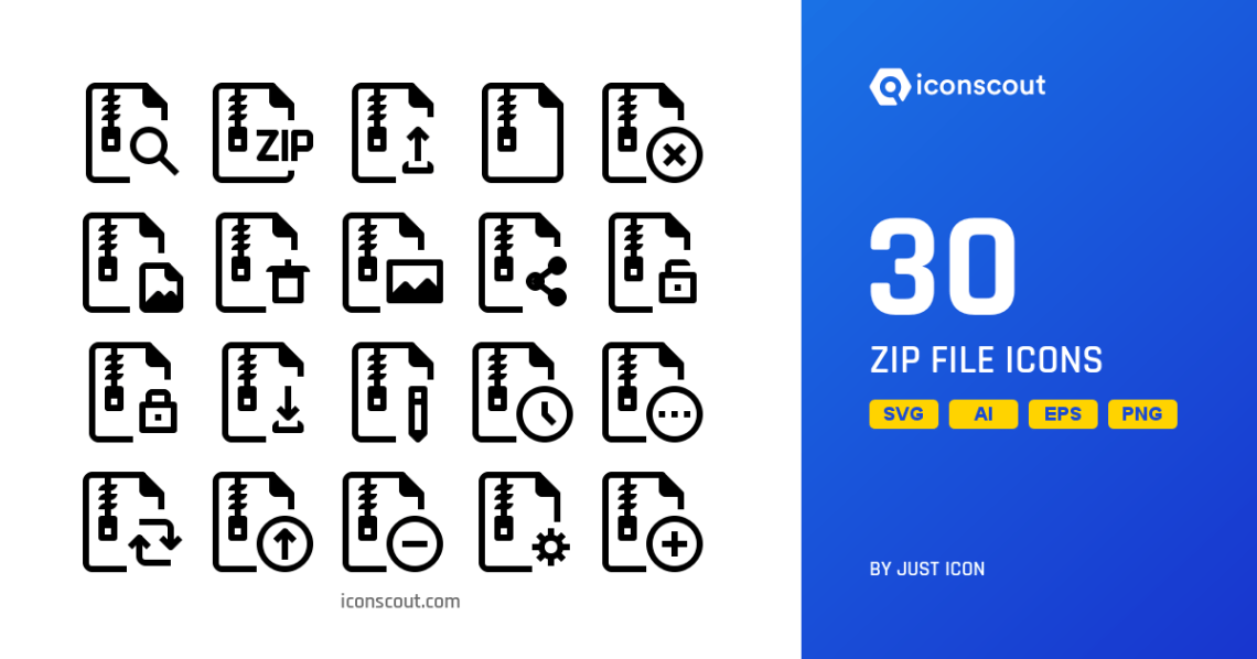 Download Download Zip File Icon pack - Available in SVG, PNG, EPS ...