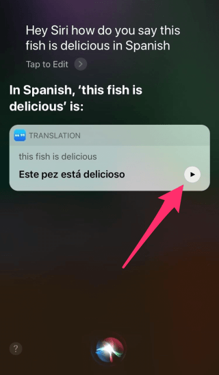 siri translate english ios 11