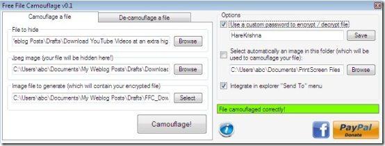 File Encryption Software: Free File Camouflage | everythingofpc