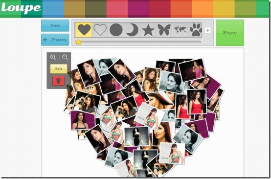 Make Collage Online With Photos: Loupe
