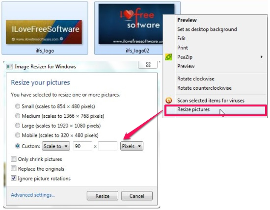 5 Free Image Resizer To Resize Images From Right Click Menu