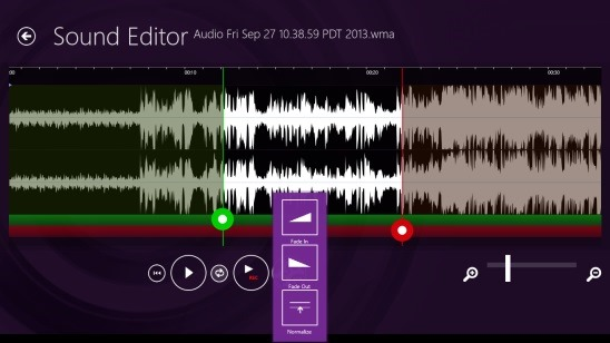 Windows 8 Sound Editor App Free