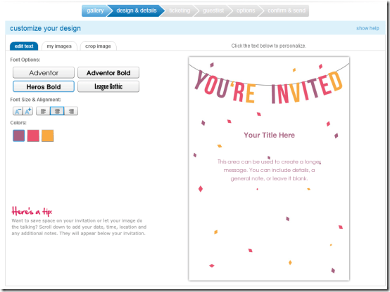 Free Online Invitation Templates Site Image With