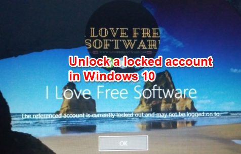 unlock a locked account in windows 10
